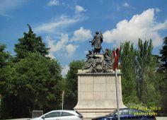 Estatua Parque del Oeste Madrid 2011