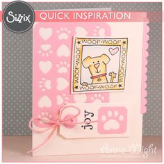 Sizzix Inspiration | Puppy Love Card by Anna Wight