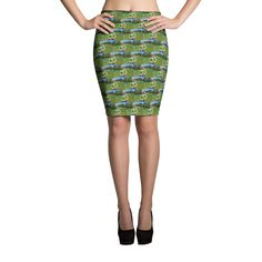 Look great in all-over printed, body-hugging pencil style skirt with elastic waistband. Aladdin, Denim Mini, Cute Casual Outfits, Spandex Material, S Models, Skirt Fashion, Your Design, Looks Great, Valentino