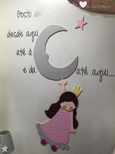 Moon and black Vinil Princesa Lua Moon, Symbols, Letters, Handmade, Black, Home Decor, Child Room, Wall Hanging Decor, The Moon