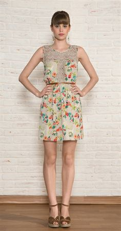 Vestido Cetim Flores e Frutas Dressy Outfits, Outfits For Teens, Boho Chic, Fashion Dresses, Plus Size, Summer Dresses, My Style, Clothes, Beauty