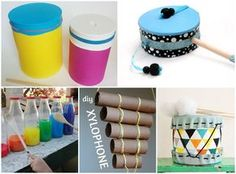 percussions a fabriquer Music For Kids, Diy For Kids, Crafts For Kids, Diy Crafts Hacks, Diy Arts And Crafts, Baby Instruments, Instrument De Percussion, Music Crafts, Grilling Gifts