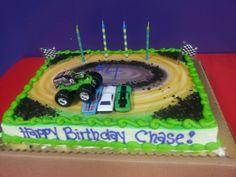 Monster truck birthday cake 4 year old