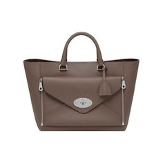 Mulberry - Willow Tote in Taupe Silky Classic Calf With Nickel