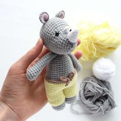 Crochet Cuddle Me Rhino - Free amigurumi pattern