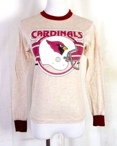 859b0329b7 vtg 80s soft thin NFL St. Louis Football Cardinals LS T-Shirt Helmet Youth M