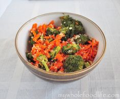Carrot Ginger Detox Salad.  Super healthy, vegan and gluten free!