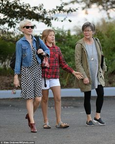 Three generations: Michelle Williams headed out with daughter Matilda Ledger and mom Carla Swensonin Brooklyn, New York, on Thursda