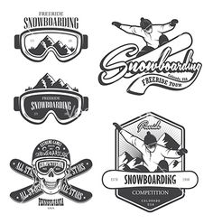 Snowboard logo and emblem vector by IvanMogilevchik on VectorStock®