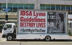 A valiant group of Lyme activists braved a record-breaking heat wave in San Diego Oct. to protest outside the Infectious Diseases Society of Lyme Disease Tick, San Diego, The Cure, Touch, Ticks, Health, Health Care, Salud
