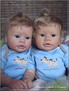 Reborn nr 90 /Adopted/ R. Schick & E. Marx - Realbabydolls Nursery *Twins are always cute!