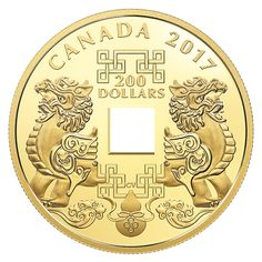 g Pure Gold Coin - Feng Shui Good Luck Charms - Mintage: 388 Feng Shui Good Luck, Art Toronto, Canadian Coins, Gold And Silver Coins, Mint Gold, World Coins, Canadian Artists, Lucky Charm, Coin Collecting