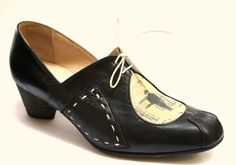 You can still buy handmade shoes..WOW http://www.etsy.com/listing/84786819/leather-fabric-small-heel-camille-black