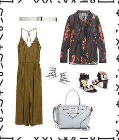The office is perfect for styling your jumpsuit with a pretty blazer.