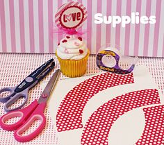 Cupcake wrap tutorial. You could use this for any party. Just change the paper.