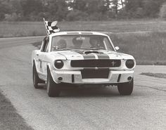 GT 350 at Waterford Hills, MI 1967. From the George Watters Collection.