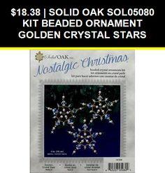SOLID OAK SOL05080  KIT BEADED ORNAMENT GOLDEN CRYSTAL STARS