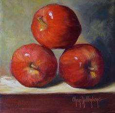 Still Life Painting, Wall Art, Apple Painting, Balancing Apple Act, Original Oil…