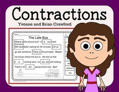 Contractions NO PREP Printables $
