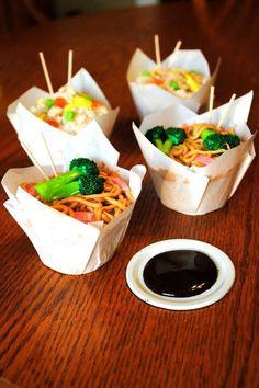 #HLo-Tips: Ramen con verduras, porcionado de forma individual para eventos con temática japonesa, vistoso y práctico.