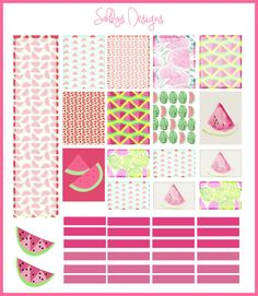 Watermelon Stickers set ( Week) by SahilysDesigns on Etsy