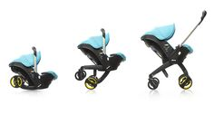The Doona car seat unfolding into a stroller #doonacarseat