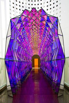 Olafur Eliasson, One-way colour tunnel, 2007 (digital rendering of interior view); site-specific sculpture to be made at SFMOMA on the occasion of Take your time: Olafur Eliasson; stainless steel, color-effect acrylic, and acrylic mirrors;