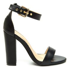 98b8e051ab These single-sole heels are perfect for any outfit. The block heel will  make walking in heels so much easier.