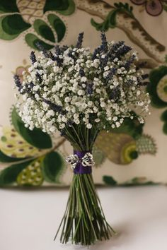 Lavender and gypsophilia bouquet
