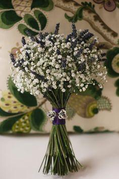 Lavender and gypsophilia bouquet