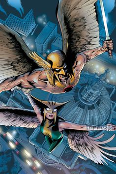 Hawkman and Hawkgirl by Greg Land