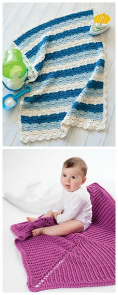 2 of 12 designs featured in In a Weekend: Baby Afghans. Order now: https://www.anniescatalog.com/detail.html?prod_id=131387&cat_id=24