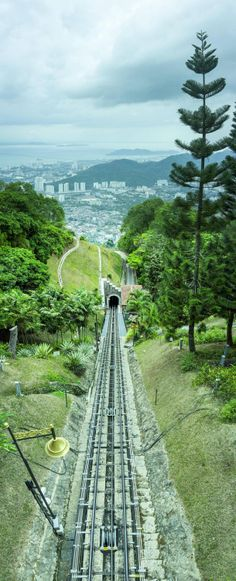Penang Hill Funicular Malaysia  #infrastructure #penang #hill #funicular #malaysia #photography