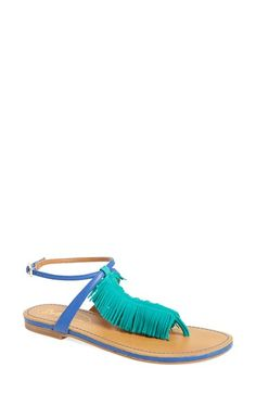 Seychelles 'Confetti' Ankle Strap Sandal suede/leather green/blue, black sz7.5 99.95
