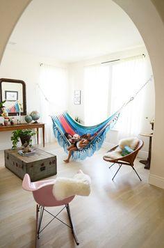 Beautiful, Comfy Indoor Hammock #reading #nook
