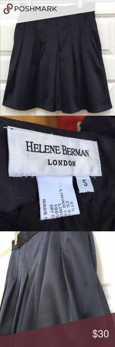 """Helene Berman LONDON ASOS Designers Evening Skirt EXCELLENT Condition Waist:13"""" Length:18.5"""" All measurements are taken with the item laid flat.  Stretch:Normal Material:See photos Color:Black 15% off on bundles. I ship same-day from pet/smoke-free home.Buy with confidence.I am a top seller with close to 800 5-star ratings and A LOT of love notes.Check them out!😊😎 Helena Berman Skirts A-Line or Full"""