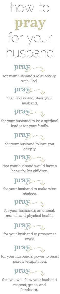 Prayers for my husband ..