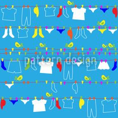Washing day? Enjoy it with this supercute repeating pattern designed by Dorothee Schaller! It is available for download as a vector file on patterndesigns.com