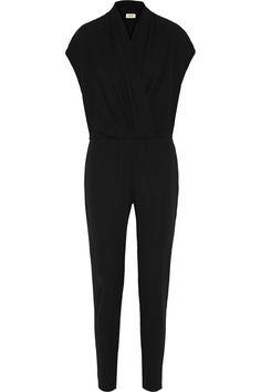 L'AGENCE Wrap-effect crepe jumpsuit. #lagence #cloth #jumpsuit