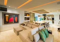 Sofá dupla face em ambientes integrados – otimize espaço na sua casa/apartamento com essa tendência!