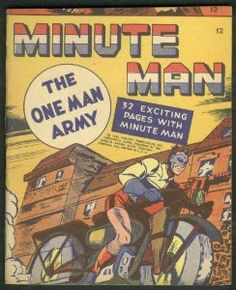 Minute Man The One Man Army miniature comic book Fawcett 1943 for sale