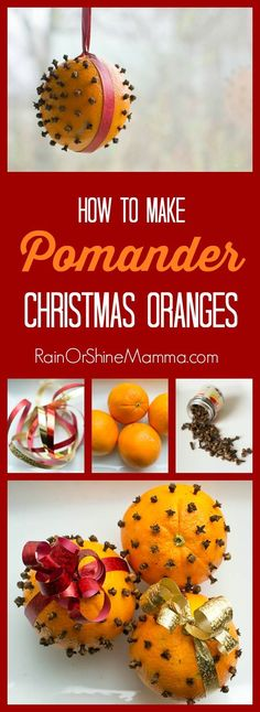 How to Make Pomander Christmas Oranges. Pomanders are a wonderful homemade Christmas craft that acts as a natural air freshener and gives your home that perfect holiday ambience. Rain or Shine Mamma. Christmas Open House, Christmas Time, Christmas Bulbs, Christmas Gifts, Christmas Decorations, Handmade Decorations, Christmas Stuff, Handmade Christmas, Christmas Ideas