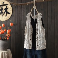 Dress Outfits, Casual Outfits, Dresses, Chromatic Aberration, Bikini Cover Up, Cotton Crochet, Ancient Art, Different Fabrics, Vest