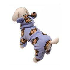 Silly Monkey Fleece Hooded Dog Pajamas by Klippo - Lavender