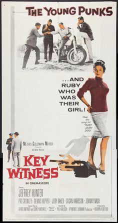 Key Witness (1960) Stars: Jeffrey Hunter, Pat Crowley, Dennis Hopper, Joby Baker, Susan Harrison ~ Director: Phil Karlson