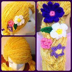Disney Tangled Rapunzel Inspired Crochet Hat / Wig. $100.00, via Etsy. Rapunzel Braid, Tangled Rapunzel, Disney Tangled, Walt Disney, Disney Crochet Hats, Disney Crochet Patterns, Cute Crochet, Crochet Yarn, Crochet Toys