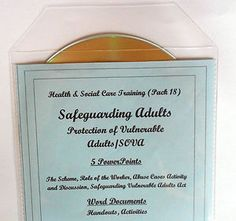 Safeguarding Adults training resource pack for care settings and nurses. Also useful for trainers, training agencies and for use on full and part-time courses.
