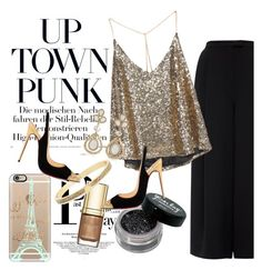 """""""Uptown Punk #2508"""" by gaburrus ❤ liked on Polyvore featuring Whistles, Dolce&Gabbana, Casetify, Christian Louboutin, Kate Spade, White House Black Market, party and holiday"""