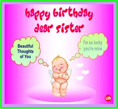 E Cards Birthday Greetings Happy Jpg 236x217 Wishes For Sister Facebook