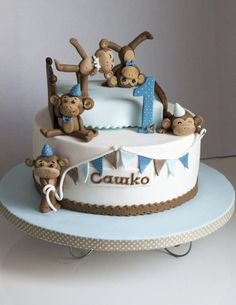 5 Little Monkey Jumping on the Bed - Cake by ArtCakesSweets